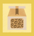 flat shading style icon coffee package vector image