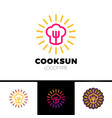 kitchen cafe restaurant - logo template vector image