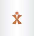 Man letter x logo design vector image