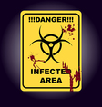 Sign of infected area Zombie zone vector image