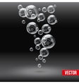 SPA aqua background with soap bubbles vector image