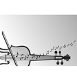 violin and musical notes vector image