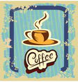 Retro banner with a cup of coffee vector image