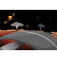 A road in the outer space vector image vector image