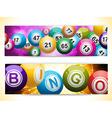 bingo ball banners vector image