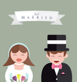 Bride and Groom Close up vector image vector image