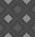 Monochrome pattern with black and gray wavy vector image
