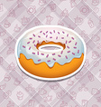 realistic donut icons vector image