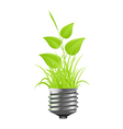 power plant grass vector image vector image