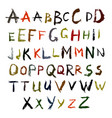 abc grunge painted brush strokes 2 vector image