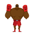 African American boxer Fighting stand Strong vector image