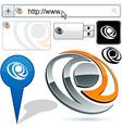 Business 3D eye logo design vector image