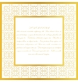 Decorative frame Eastern style design template vector image