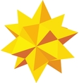 Decorative star icon isometric 3d style vector image