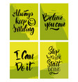 handwritten motivating quote vector image