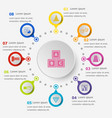 infographic template with toy icons vector image