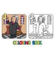 judge coloring book alphabet j profession abc vector image