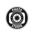 Round logo for studio photography vector image