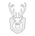 Stuffed taxidermy deer head Line-art vector image