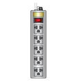 top view of plug sockets vector image