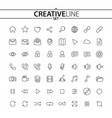 universal outline icons vector image