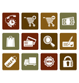 Flat Internet icons for online shop vector image