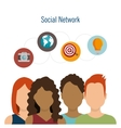 social network teamwork communication design vector image