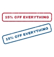 15 Percent Off Everything Rubber Stamps vector image