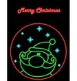 Neon Santa vector image