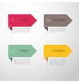 Design template back vector image vector image