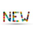 New colorful splashes symbol vector image