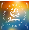 Invitation summer card with palms vector image