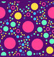 abstract seamless pattern with circles on violet vector image