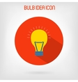 Bulb flat styled icon vector image
