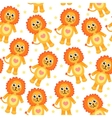 Cute cartoon lion seamless texture vector image