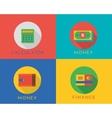 E-commerce money logo icons set Shop vector image