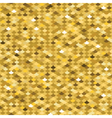 Golden fish scale seamless pattern vector image
