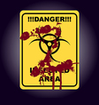 Sign of infected area vector image