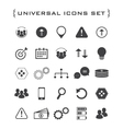 Flat business and technology icon set vector image