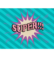 Super comic text vector image