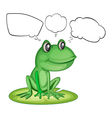 An amphibian and the empty callouts vector image vector image