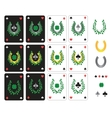 Set of lucky cards vector image