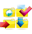 Folders with Arrows vector image vector image