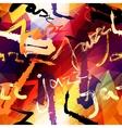 Jazz music pattern vector image