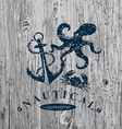 T-shirt print Nautical marine badge design vector image vector image