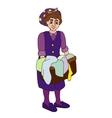 wascherwoman on a white background vector image