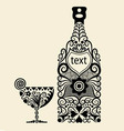 Bottle ornament vector image