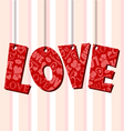 Abstract Valentine text frame with hanged letters vector image