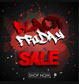 black friday sale typography abstract grunge red vector image