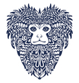 Patterned Head of the Lion Tamarin vector image